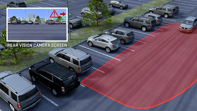 2019 GMC vehicle safety: with available Rear Cross Traffic Alert.