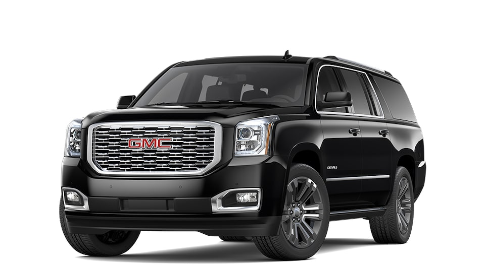 2019 GMC Yukon XL Denali in Onyx Black colour.