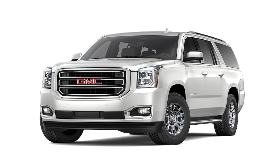 2019 GMC Yukon XL in White Frost Tricoat colour.