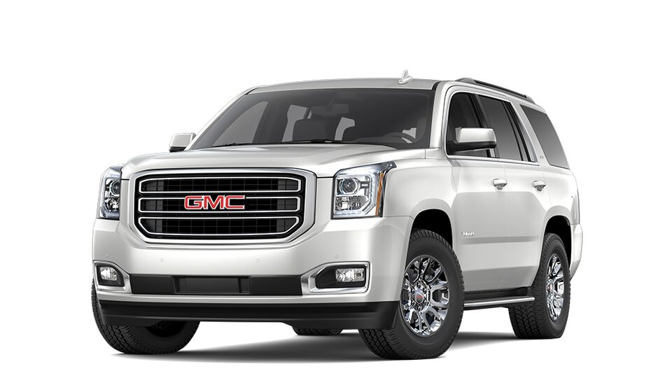 2019 GMC Yukon in White Frost Tricoat colour.
