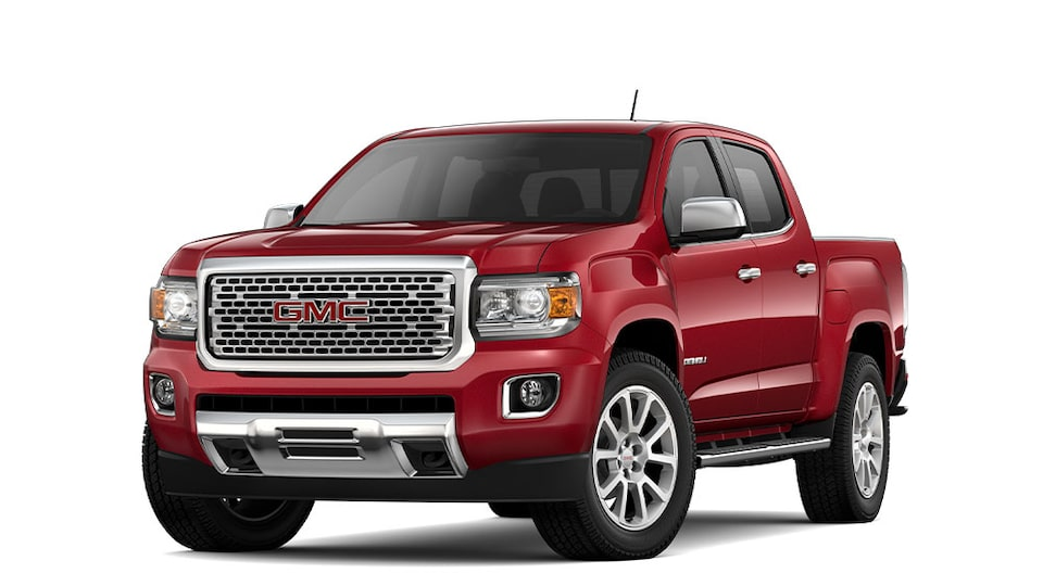 2020 GMC Canyon Denali Red Quartz.