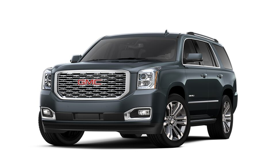 2020 GMC Yukon Denali in Carbon Black Metallic.