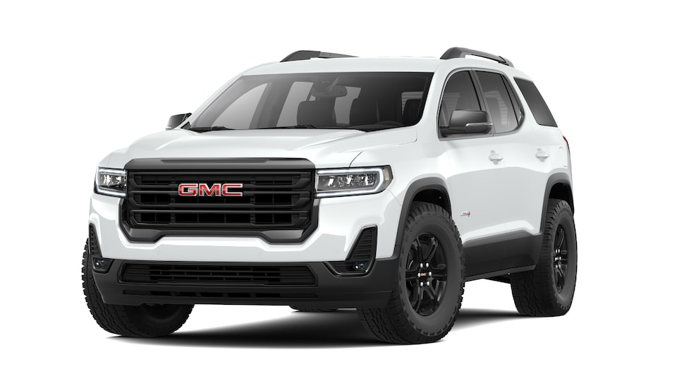 2021 GMC Acadia AT4 in Summit White.