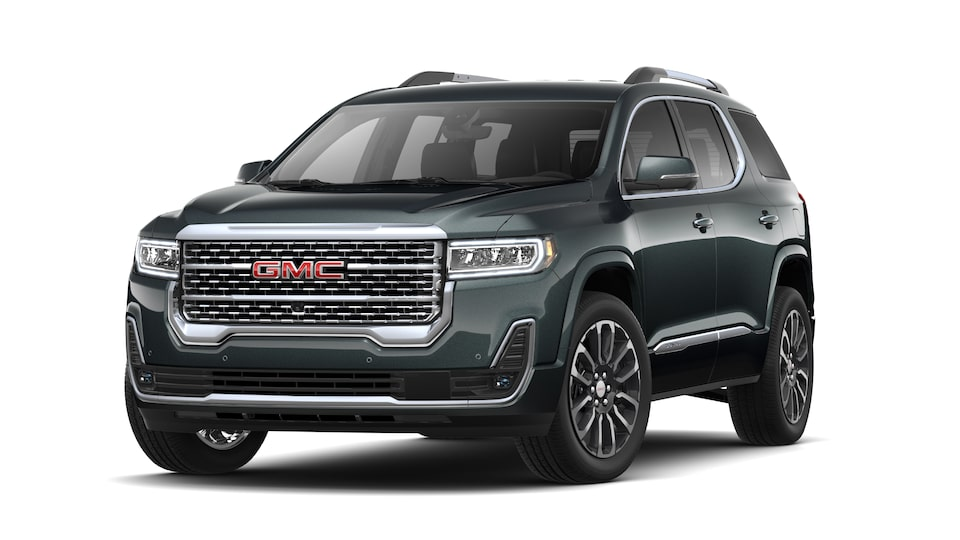 2021 GMC Acadia Denali in Hunter Metallic.