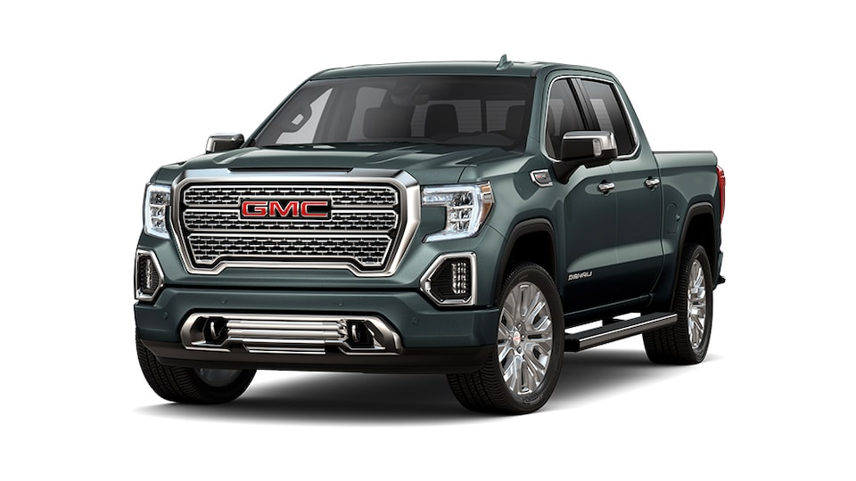GMC Sierra Denali 2021 en Hunter Metallic.