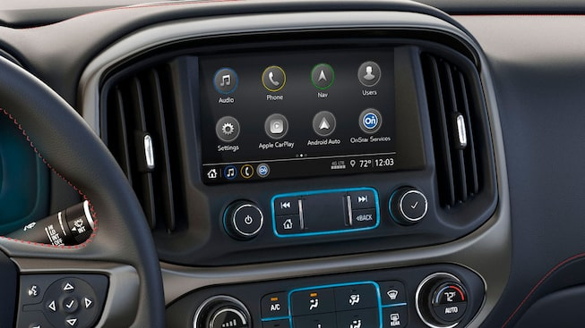 2019 Canyon All Terrain's GMC Infotainment system with available navigation.