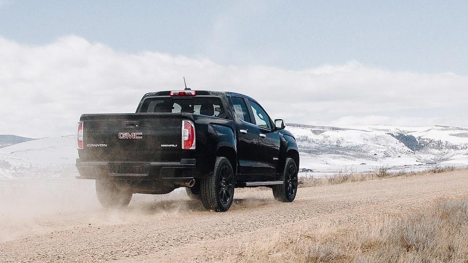 The 2019 Canyon Denali with available 3.6L gas engine.