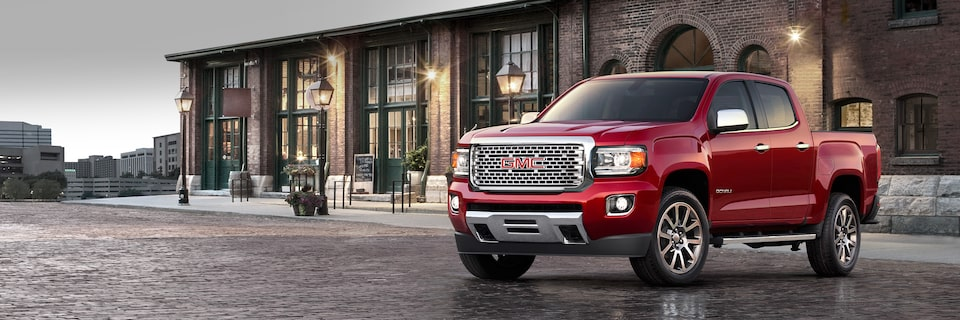 The 2019 GMC Canyon Denali with driver alert technologies.