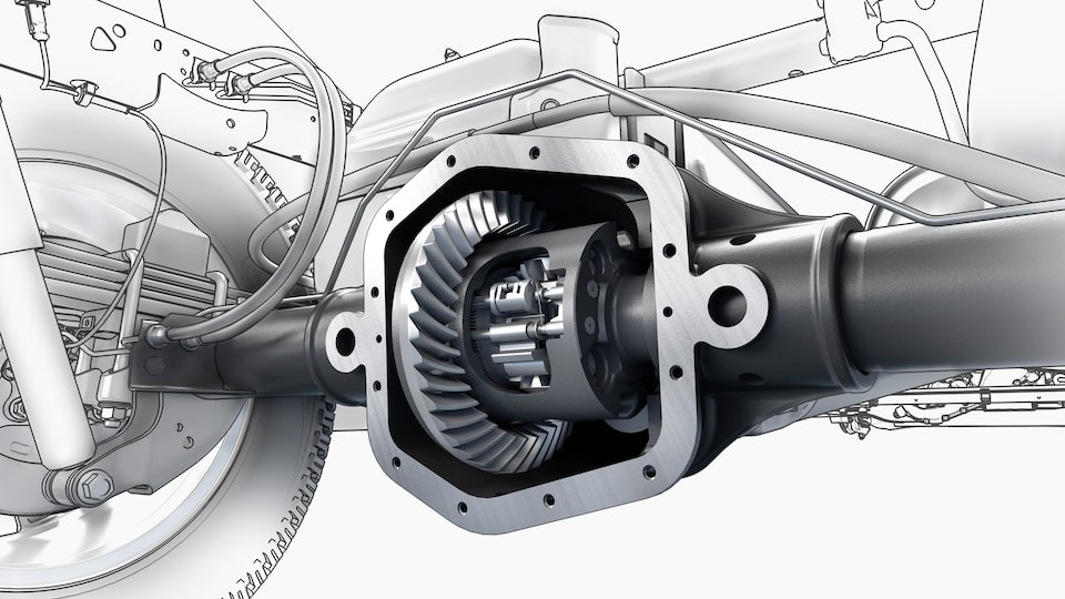 The Canyon mid-size pickup truck's rear locking differential.