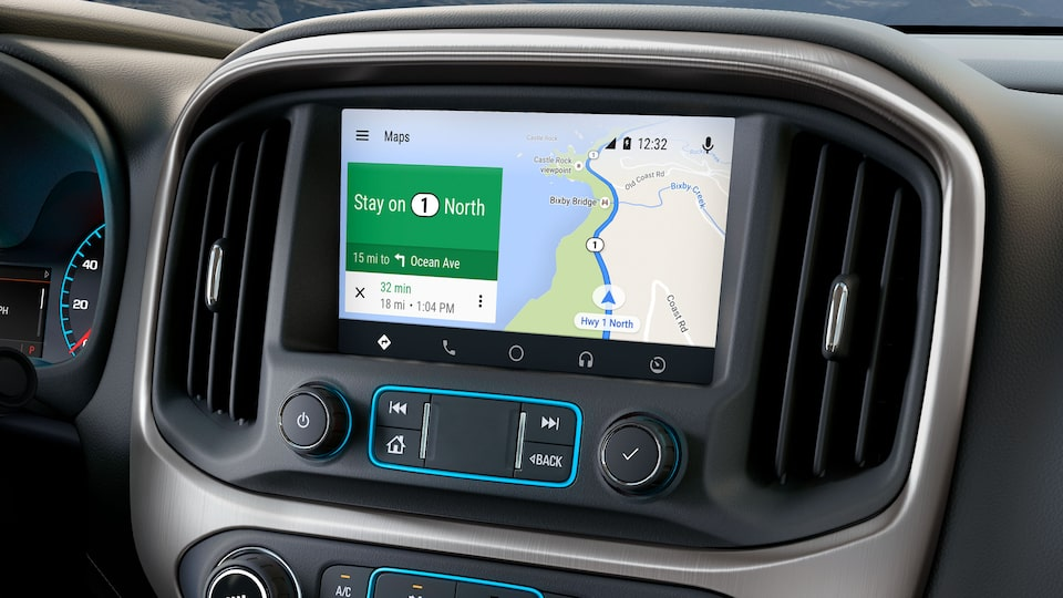 The Canyon with Android Auto connectivity.