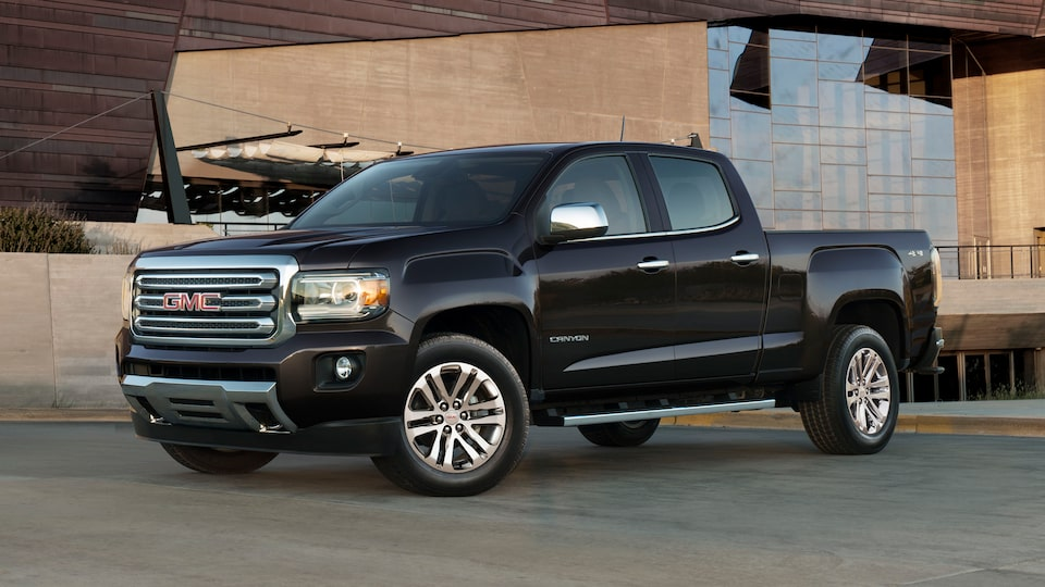 The 2019 GMC Canyon mid-size pickup truck's exterior.