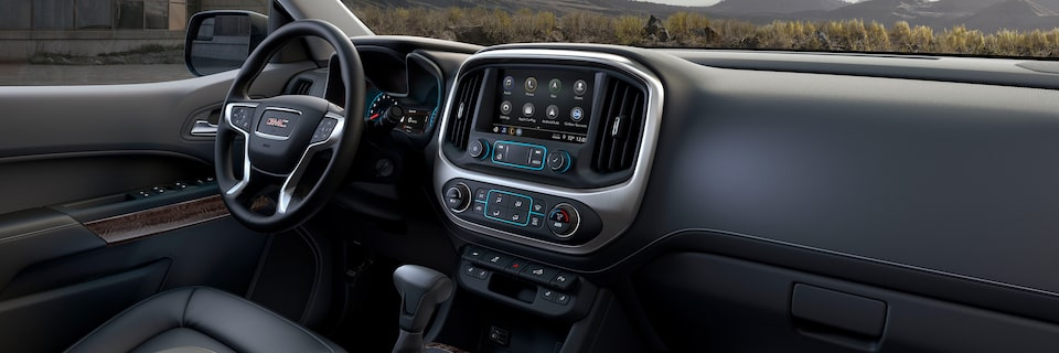 The 2019 GMC Canyon with interior noise reducing features.