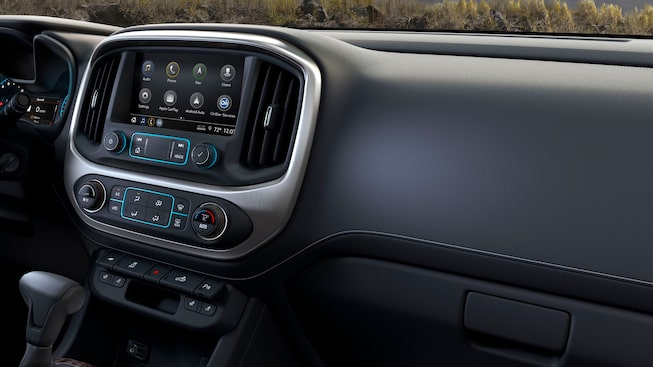 2019 Canyon's interior instrument panel.