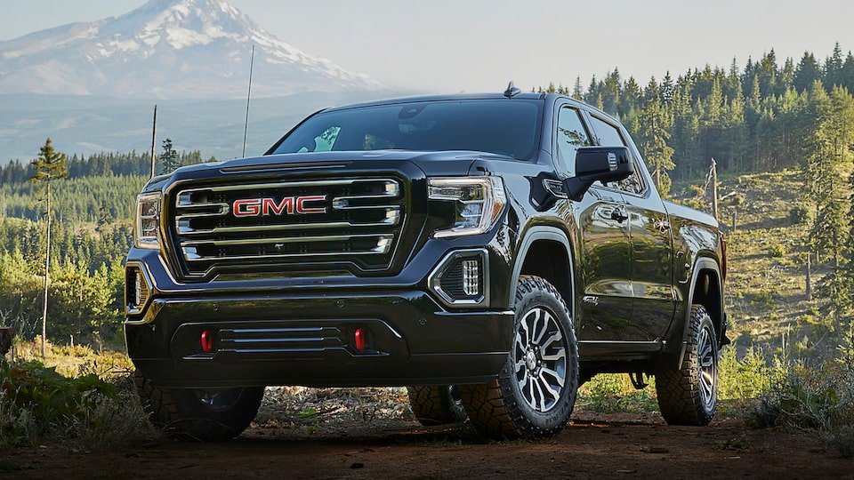 Exterior of the 2019 Sierra 1500 AT4.