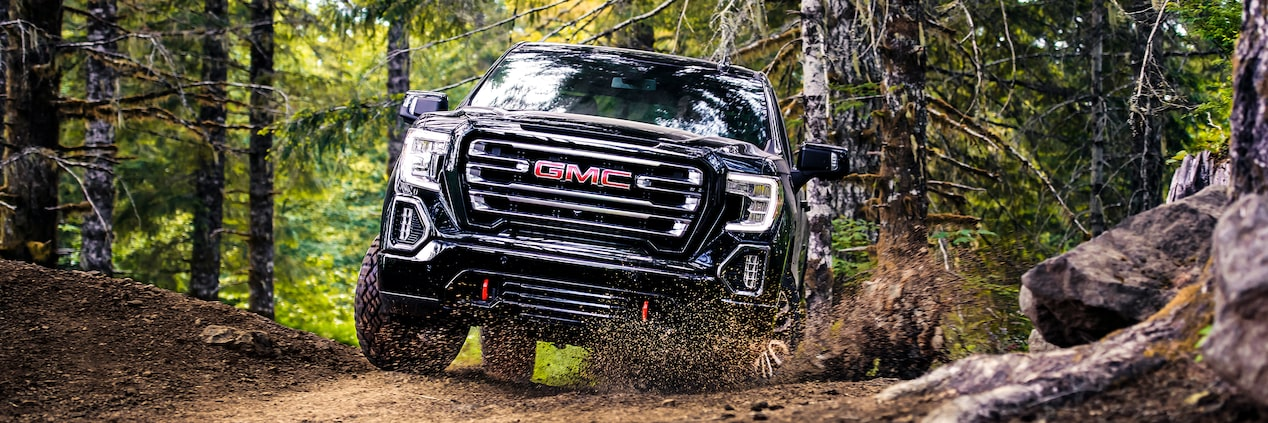 The 2019 Sierra AT4 is available with off-road capability.