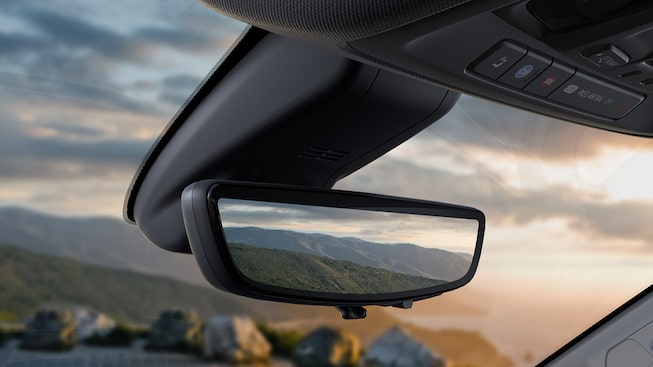 The 2019 GMC Sierra AT4 is available with a rear camera mirror.