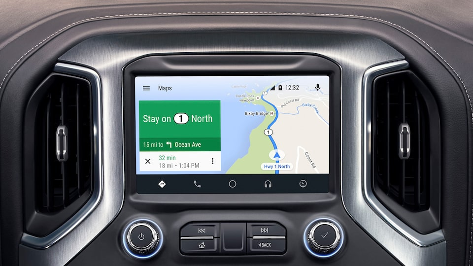 The 2019 GMC Sierra comes with Android Auto compatibility.