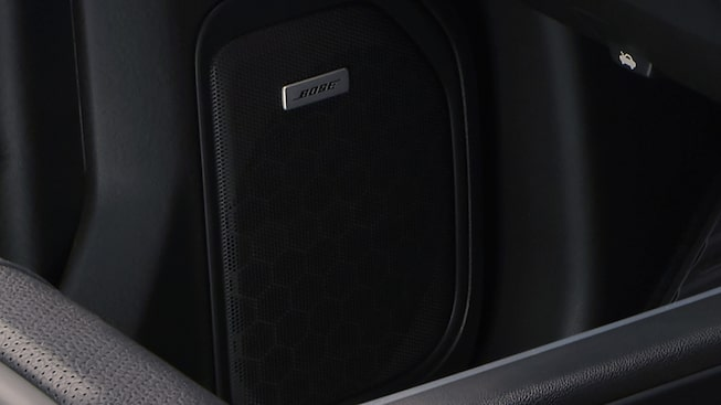 2019 Sierra interior: available Bose premium sound system.