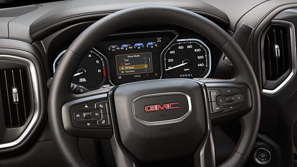 2019 Sierra interior: available 8-inch digital driver information centre.