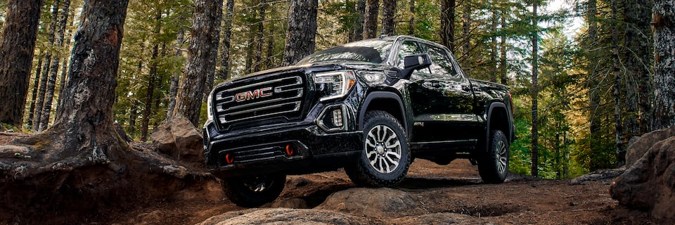 The Sierra AT4's suspension is lifted 2 inches higher than other Sierra models.