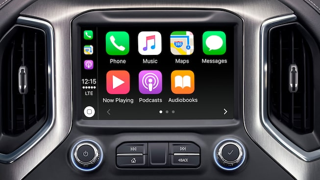 2019 Sierra 1500 Denali Apple CarPlay.
