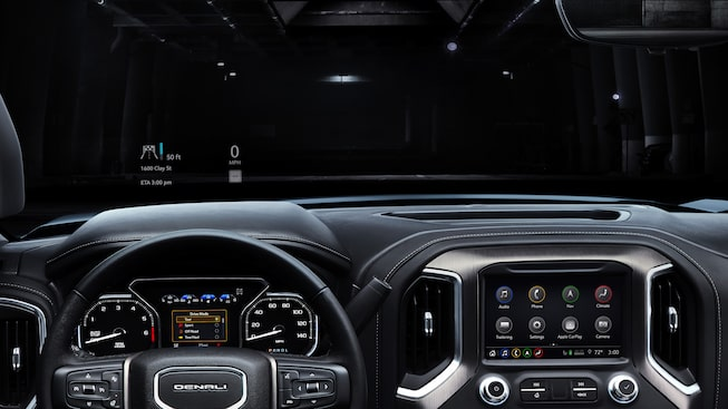 2019 Sierra 1500 Denali interior technology.