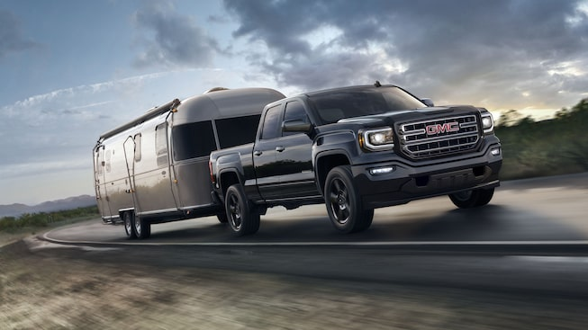 The 2019 GMC Sierra 1500 Limited with trailering technologies.