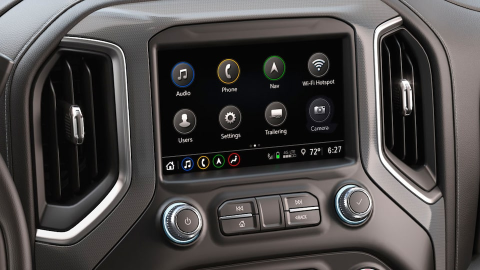 2019 Sierra 1500 connectivity: premium GMC Infotainment System with Navigation.