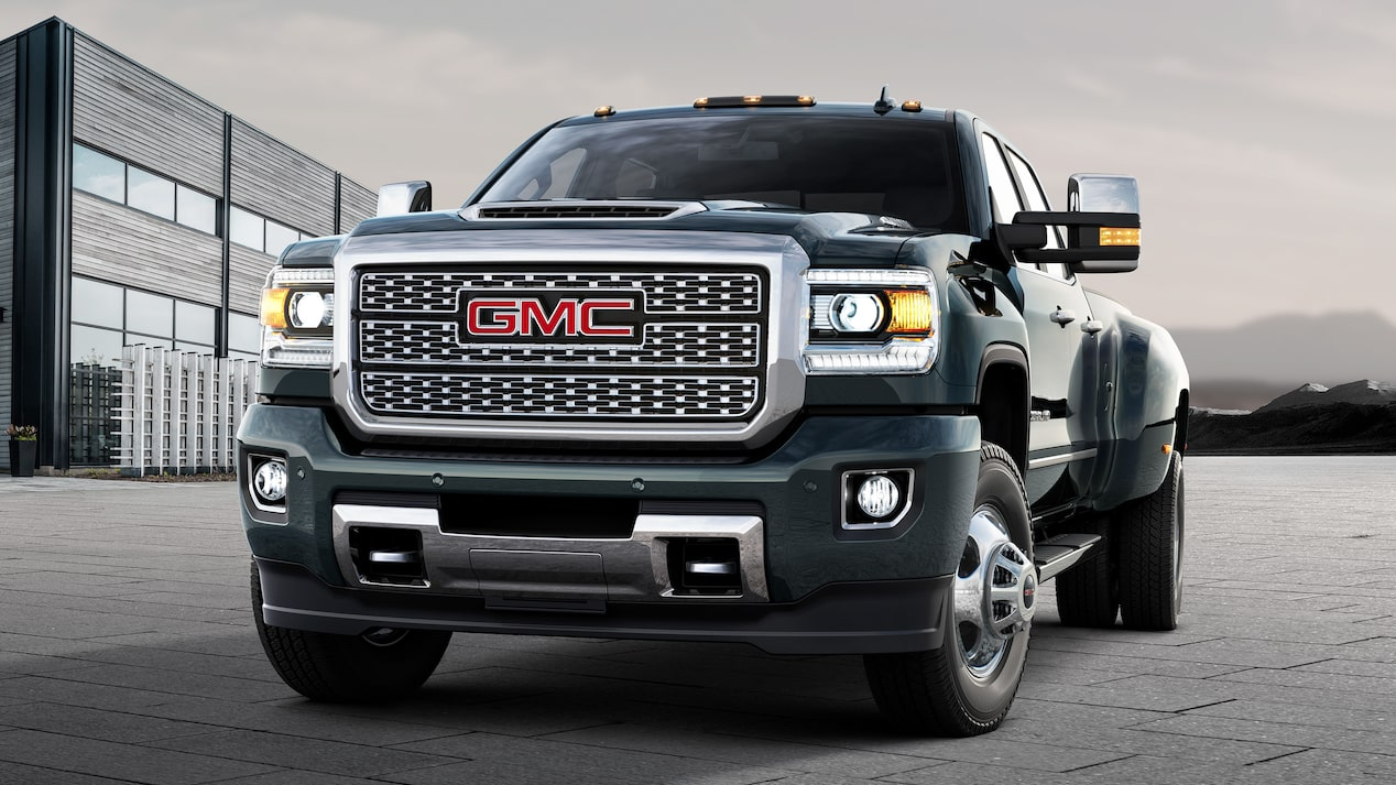 Front exterior view of the 2019 GMC Sierra HD Denali.
