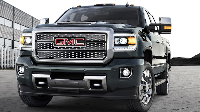 Sierra Denali HD's HID projector headlamps with LED signature front lighting.