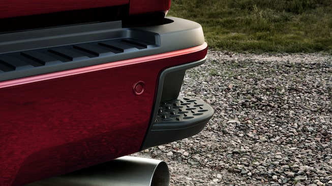 GMC Sierra Denali HD's available CornerStep rear bumper.
