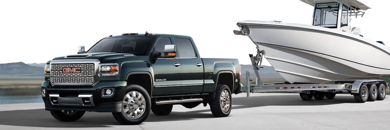 The 2019 GMC Sierra Denali HD with standard Trailer-Sway-Control technology.