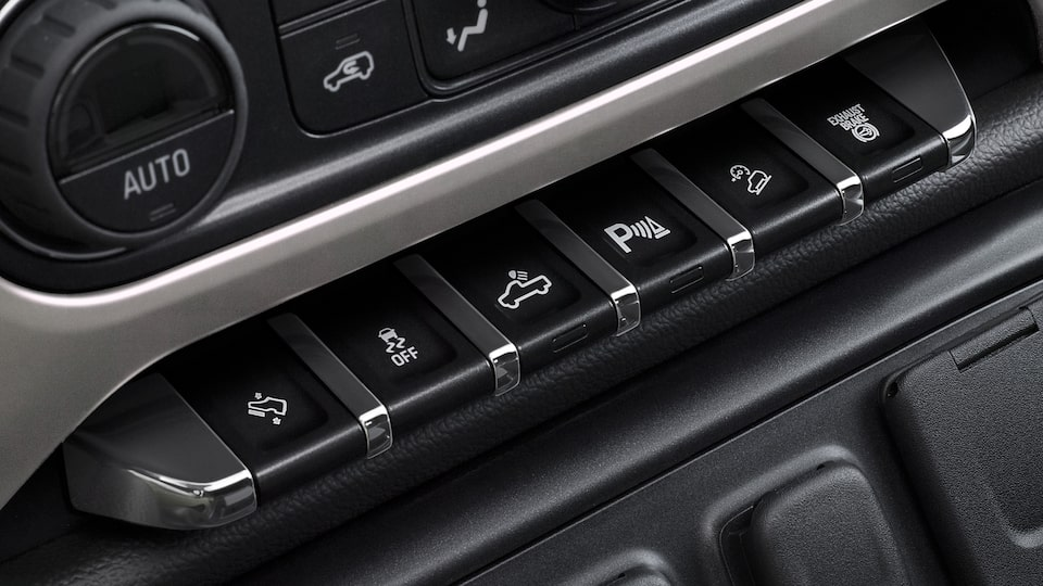 The 2019 Sierra Denali HD's available Digital Steering Assist feature.