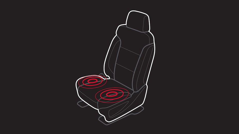 Sierra Denali HD heavy-duty pickup truck's available Safety Alert Seat.