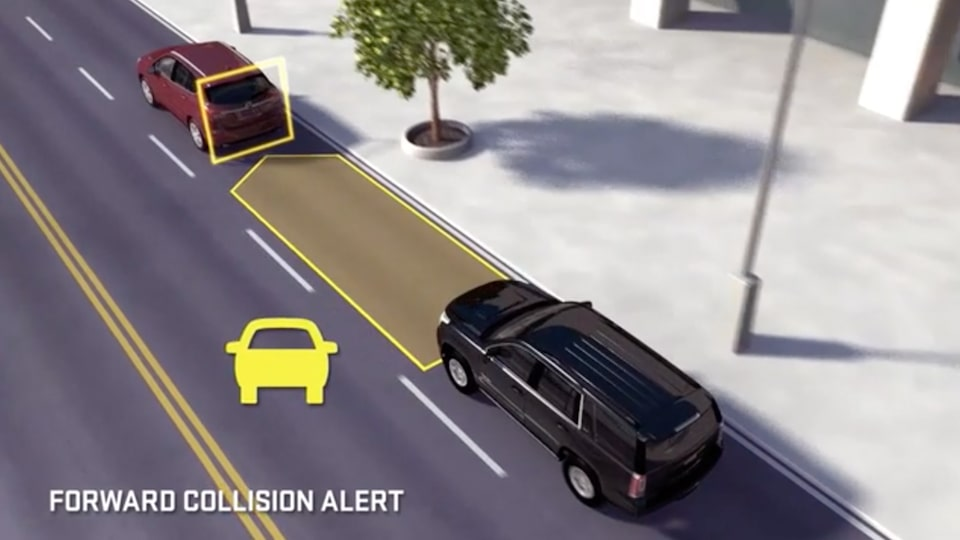 2019 Sierra Denali HD's available Forward Collision Alert feature.