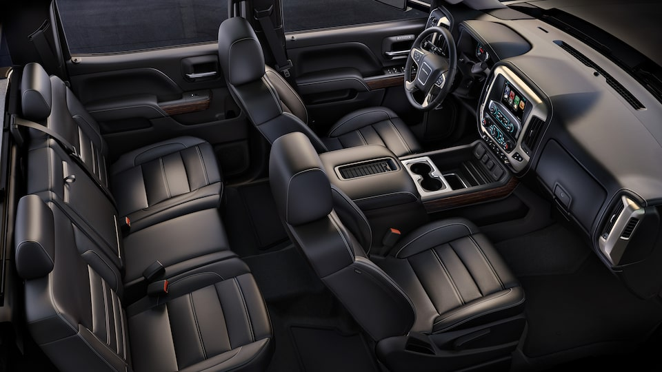The GMC Sierra Denali HD includes six standard airbags to help protect during a collision.