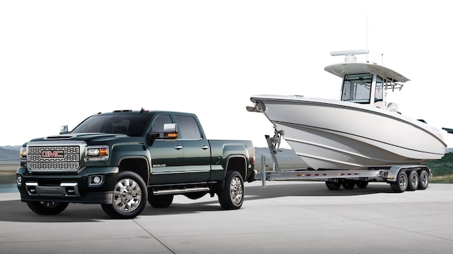 The 2019 GMC Sierra 3500 Denali HD with Standard Trailer-Sway-Control technology.
