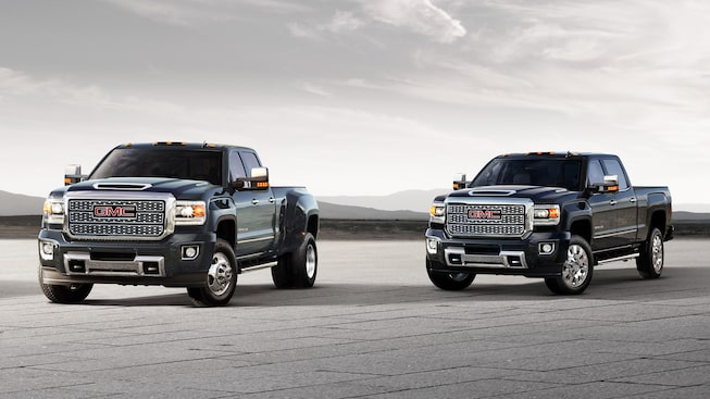 The Sierra 2500 and 3500 Denali HD.