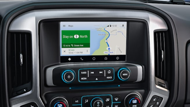 2019 GMC Sierra HD's available Android Auto connectivity.