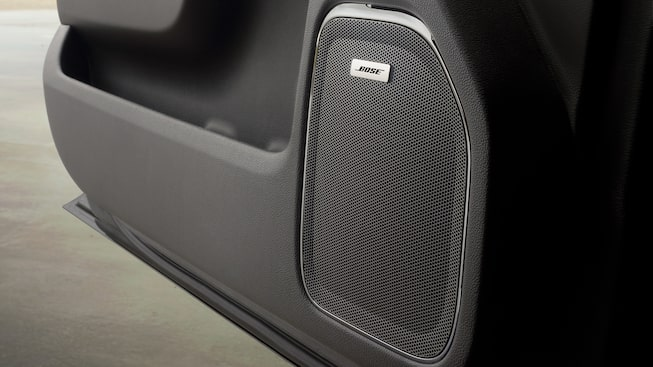 GMC Sierra with available Bose premium audio.