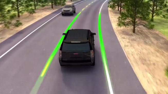 2019 GMC Sierra HD's available Lane Departure Warning feature.