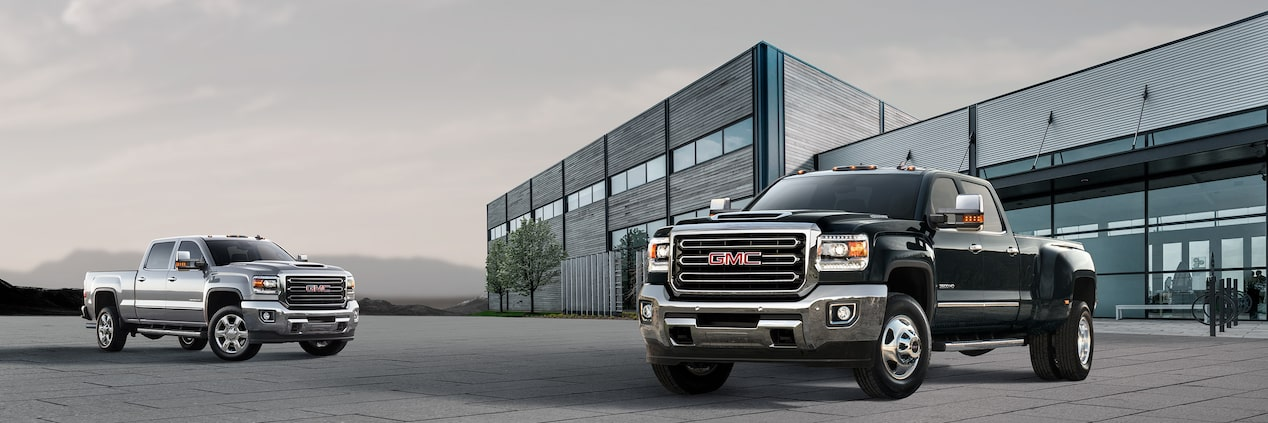 Safety features of the 2019 GMC Sierra HD heavy-duty pickup truck.