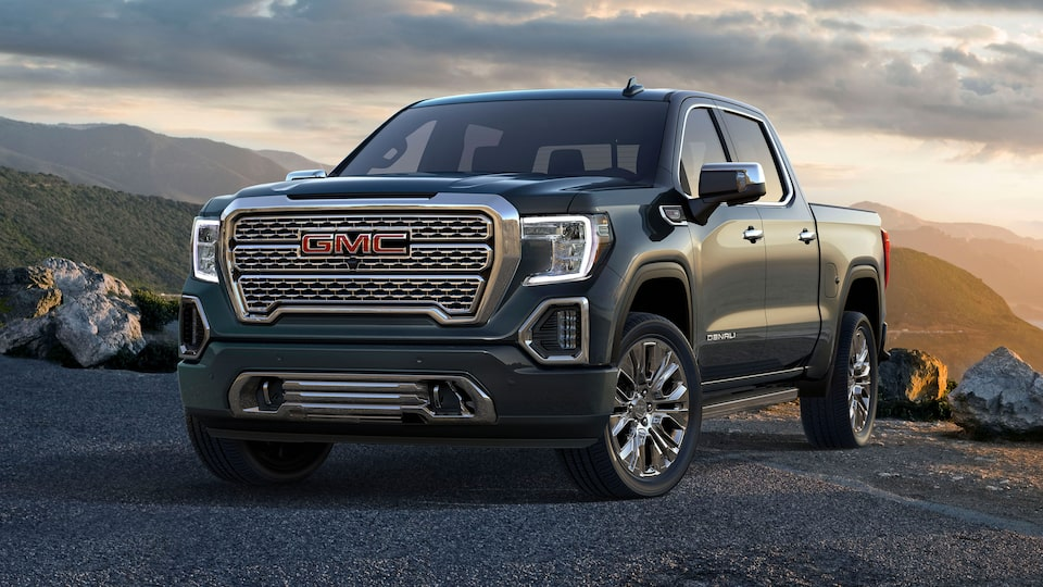 2020 Sierra 1500 Denali Light-Duty Pickup Truck Front Angle Shot Design With Purpose.