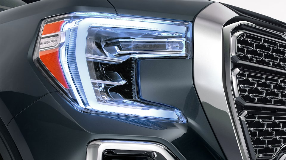 Sierra 1500 Denali Light-Duty Pickup Truck Exterior LED Lighting.