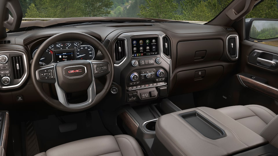 2020 Sierra 1500 Pickup Truck: Interior Dashboard.