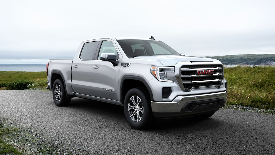GMC Sierra 1500 Pickup Truck: Exterior Front Profile View.