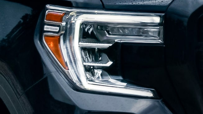 2020 Sierra AT4 Pickup Truck: LED Headlamp.