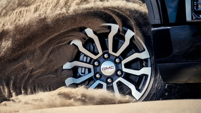 2020 Sierra AT4 Pickup Truck: Duratrac Tires.