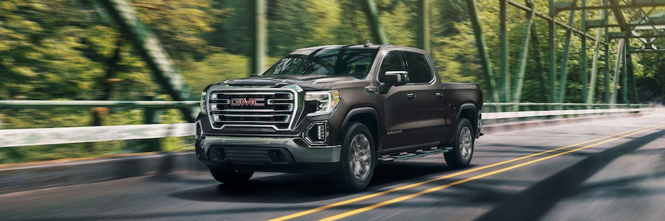 2020 GMC Sierra 1500 Pickup Truck: Scenic Driving On A Bridge.