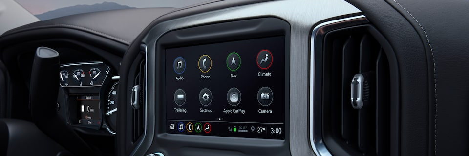 2020 Sierra 1500 Pickup Truck: Infotainment System Featuring Advanced Technology.